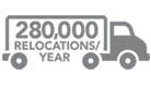 280,000 Relocations